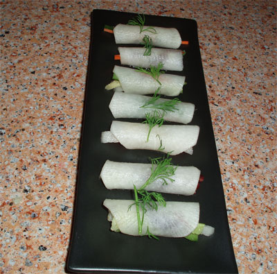 daikon roll salad