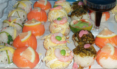 ... » Blog Archive » For party idea? Sushi balls (temari sushi) dishes