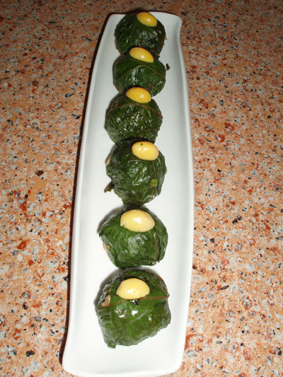 perilla (sesame leaf) rice ball