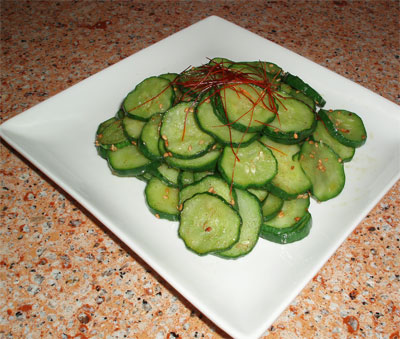 Oi Namul (Korean style Cucumber Salad)